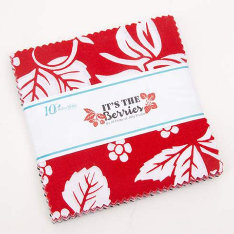 "It's the Berries Charm Pack 5"" Stacker Bundle - Riley Blake Designs - 42 piece Precut Pre cut - Quilting Cotton Fabric"