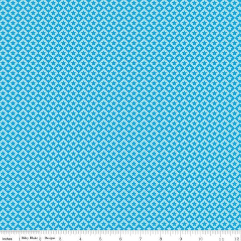 SALE Cops and Robbers Stars Blue - Riley Blake Designs - Juvenile Stars Diamonds Geometric -  Quilting Cotton Fabric