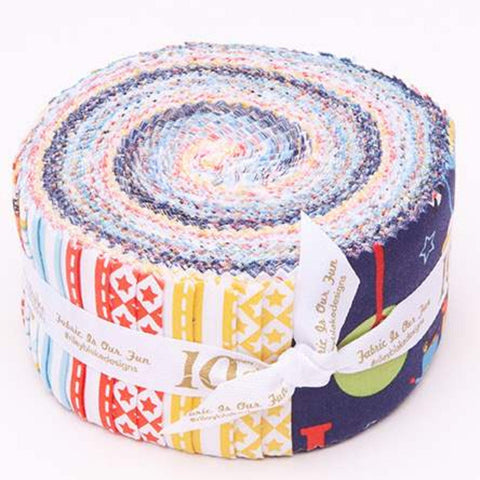 Cops and Robbers 2.5 Inch Rolie Polie Jelly Roll 40 pieces Riley Blake Designs - Precut Pre cut Bundle - Quilting Cotton Fabric