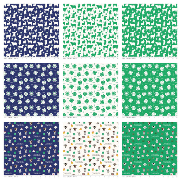 "4-H Charm Pack 5"" Stacker Bundle - Riley Blake Designs - 42 piece Precut Pre cut - Agriculture Youth - Quilting Cotton Fabric"
