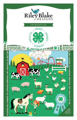 "SALE 4-H Layer Cake 10"" Stacker Bundle - Riley Blake Designs - 42 piece Precut Pre cut - Agriculture Youth - Quilting Cotton Fabric"
