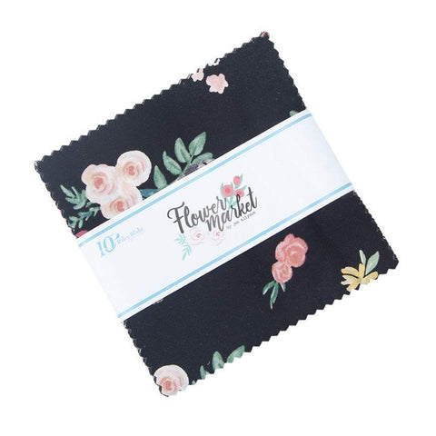 "Flower Market Charm Pack 5"" Stacker Bundle - Riley Blake Designs - 42 piece Precut Pre cut - Flowers Floral - Quilting Cotton Fabric"