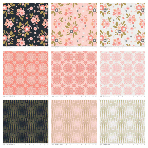 A Little Bit of Sparkle 2.5-Inch Rolie Polie Jelly Roll 40 pieces Riley Blake Designs - Precut Bundle - Quilting Cotton Fabric