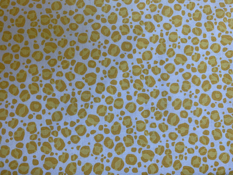 Tarzanimals Leopard Yellow - Riley Blake Designs - Jungle Animal Spots - Quilting Cotton Fabric
