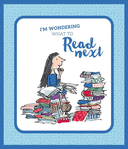 Matilda Panel Blue by Riley Blake Designs - Roald Dahl Reading Books - Quilting Cotton Fabric