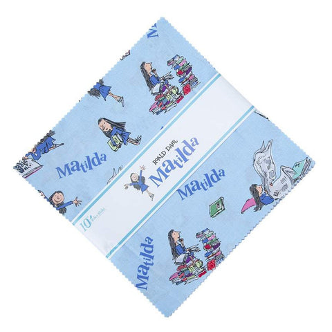 "SALE Matilda Layer Cake 10"" Stacker Bundle - Riley Blake Designs - 42 piece Precut Pre cut - Roald Dahl Books - Quilting Cotton Fabric"