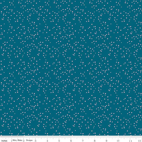 Play Outside Dots Navy - Riley Blake Designs - Scattered Irregular Dots Blue - Quilting Cotton Fabric