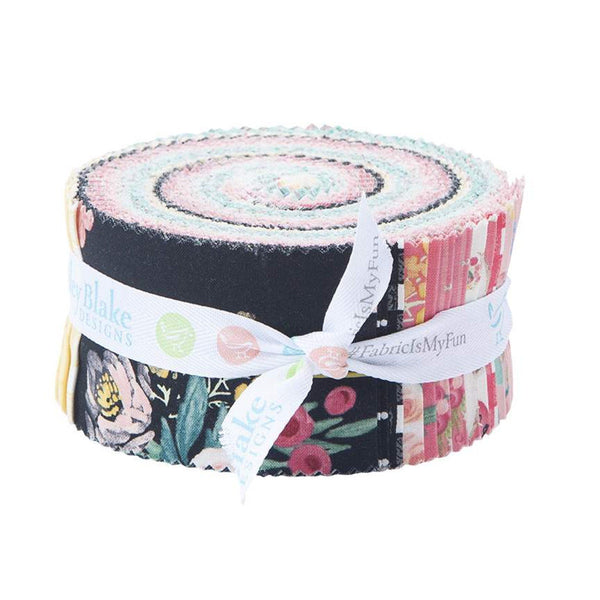 SALE Flower Market 2.5-Inch Rolie Polie Jelly Roll 40 pieces Riley Blake Designs - Precut Bundle - Floral Flowers - Quilting Cotton Fabric