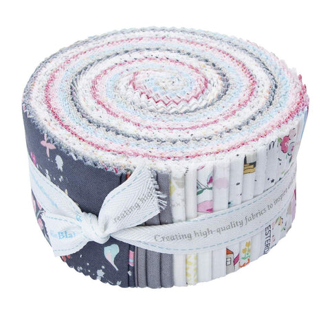 Moments 2.5 Inch Rolie Polie Jelly Roll 40 pieces Riley Blake Designs - Precut Pre cut Bundle - Quilting Cotton Fabric