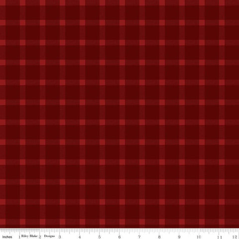 American Legacy Plaid Red - Riley Blake Designs - Tone on Tone Check Patriotic Independence Day - Quilting Cotton Fabric - choose your cut