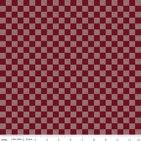 Send Me to the Woods Buffalo Plaid Red - Riley Blake Designs - Outdoors Check Checkered Checks   - Quilting Cotton Fabric