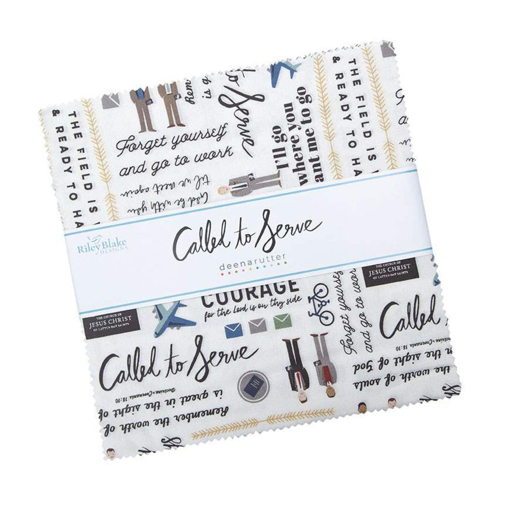 "Called to Serve Layer Cake 10"" Stacker Bundle - Riley Blake Designs - 42 piece Precut Pre cut - Missionary - Quilting Cotton Fabric"