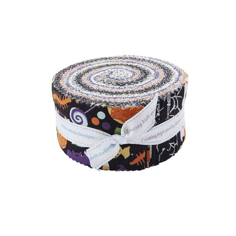 Hocus Pocus 2.5-Inch Rolie Polie Jelly Roll 40 pieces Riley Blake Designs - Precut Bundle - Halloween - Quilting Cotton Fabric