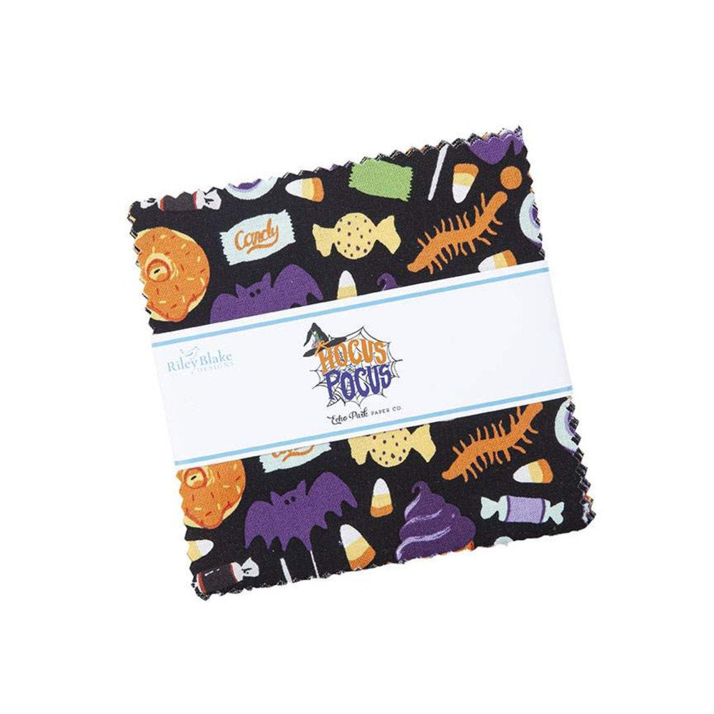 "Hocus Pocus Charm Pack 5"" Stacker Bundle - Riley Blake Designs - 42 piece Precut Pre cut - Halloween - Quilting Cotton Fabric"