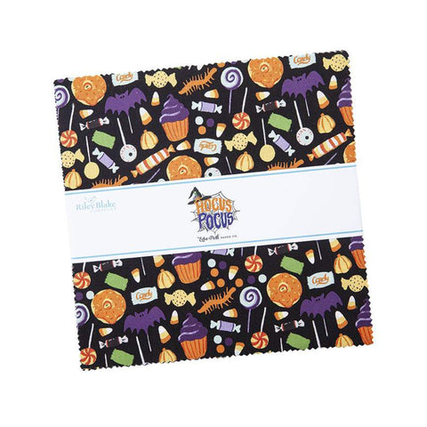 "Hocus Pocus Layer Cake 10"" Stacker Bundle - Riley Blake Designs - 42 piece Precut Pre cut - Halloween - Quilting Cotton Fabric"