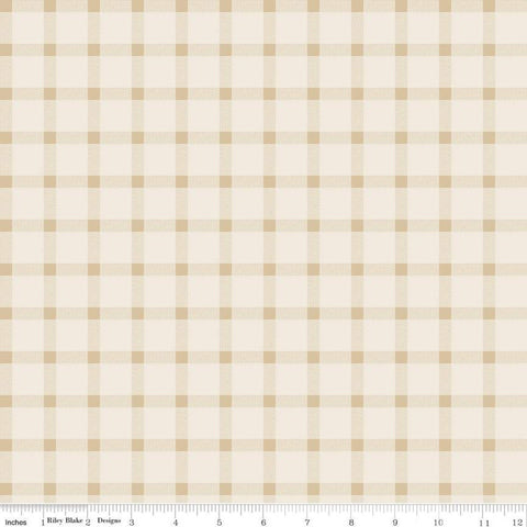 American Legacy Plaid Cream - Riley Blake Design - Tone on Tone Patriotic Independence Day - Quilting Cotton Fabric