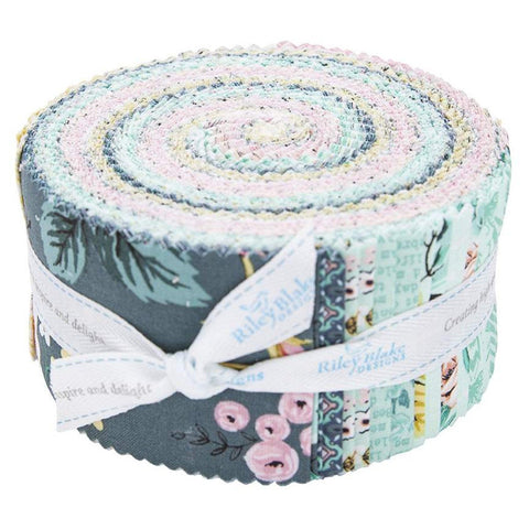 Splendor 2.5 Inch Rolie Polie Jelly Roll 40 pieces Riley Blake Designs - Precut Pre cut Bundle - Floral - Quilting Cotton Fabric