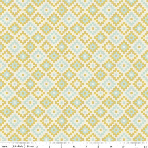 SALE Woodland Spring God's Eye Cream - Riley Blake Designs - Geometric -  Quilting Cotton Fabric