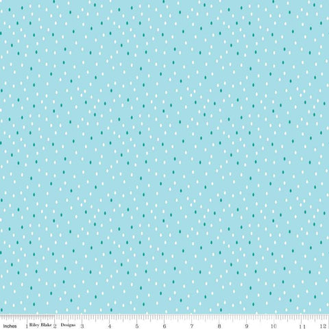 SALE Singing in the Rain Drops Waterfall - Riley Blake Designs - Raindrops on Blue - Quilting Cotton Fabric - choose your cut