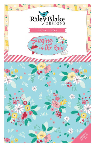 Singing in the Rain 2.5-Inch Rolie Polie Jelly Roll 40 pieces Riley Blake Designs - Precut Bundle - Floral - Quilting Cotton Fabric