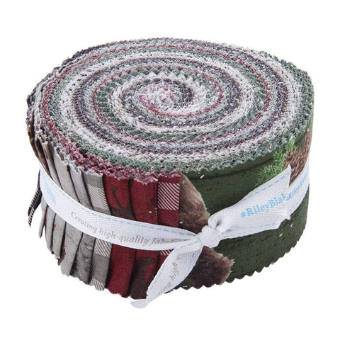 Send Me to the Woods 2.5-Inch Rolie Polie Jelly Roll 40 pieces Riley Blake Designs - Precut Bundle - Outdoors - Quilting Cotton Fabric