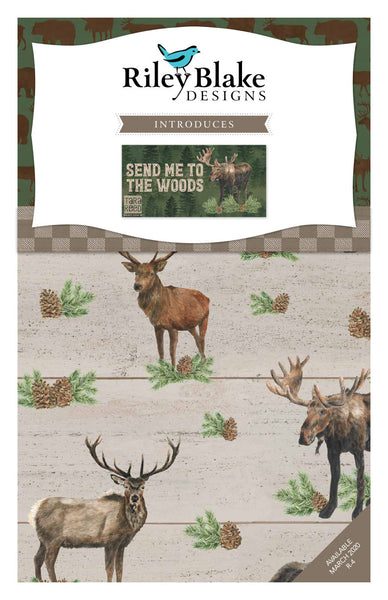 Send Me to the Woods Fat Quarter Bundle 21 pieces - Riley Blake Designs - Pre cut Precut - Quilting Cotton Fabric - Free US Shipping