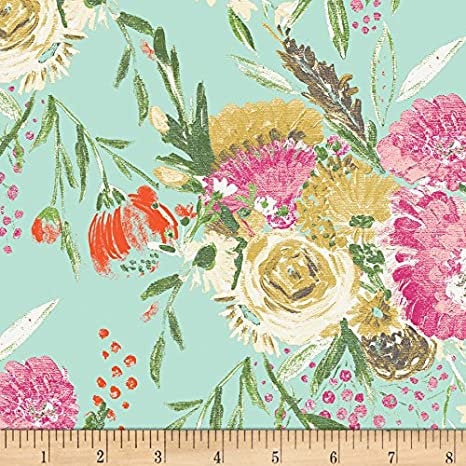 Summer Bouquet Clear Knit from Wild Bloom - Art Gallery - Floral - Jersey KNIT cotton lycra stretch fabric