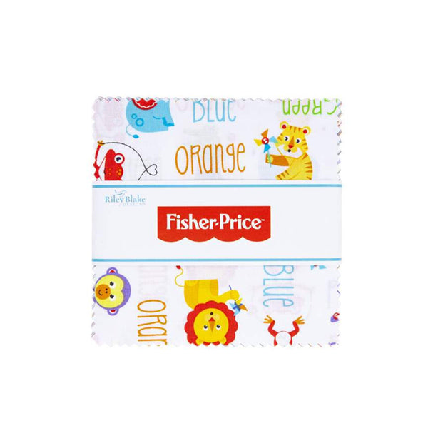 "Fisher-Price Charm Pack 5"" Stacker Bundle - Riley Blake Designs - 42 piece Precut Pre cut - Toys - Quilting Cotton Fabric"