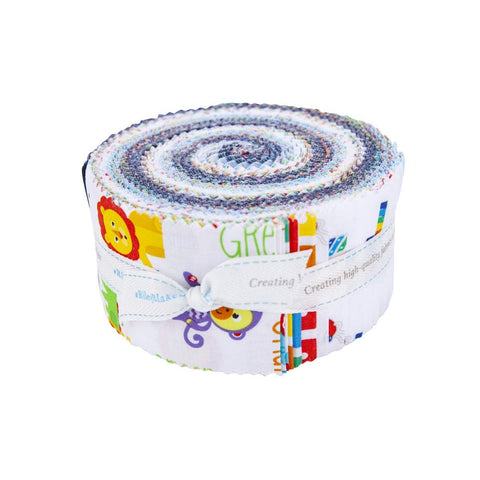 Fisher-Price 2.5 Inch Rolie Polie Jelly Roll 40 pieces Riley Blake Designs - Precut Pre cut Bundle - Toys - Quilting Cotton Fabric