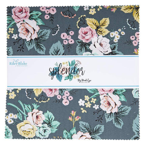 "Splendor Layer Cake 10"" Stacker Bundle - Riley Blake Designs - 42 piece Precut Pre cut - Floral - Quilting Cotton Fabric"