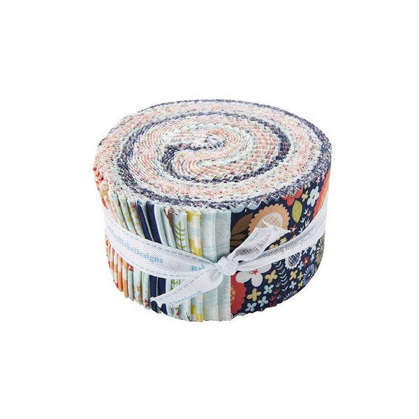 Woodland Spring 2.5 Inch Rolie Polie Jelly Roll 40 pieces Riley Blake Designs - Precut Pre cut Bundle - Quilting Cotton Fabric