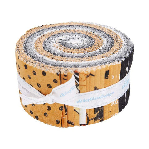 Goose Tales 2.5-Inch Rolie Polie Jelly Roll 40 pieces Riley Blake Designs - Precut Bundle - Halloween - Quilting Cotton Fabric