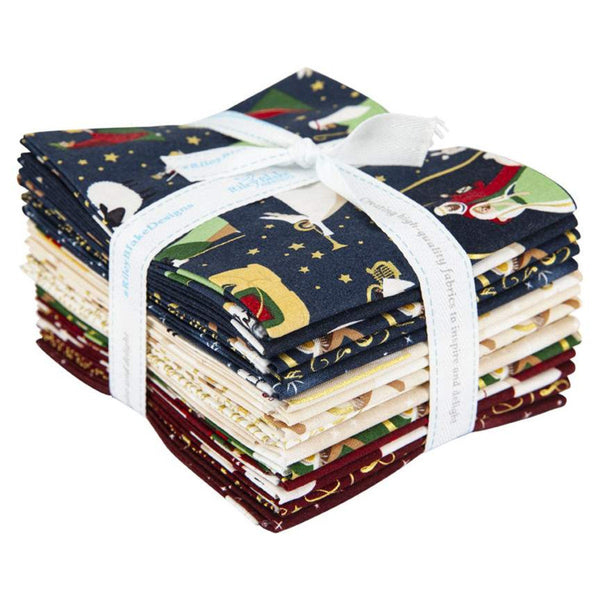Oh Holy Night Fat Quarter Bundle 15 pieces - Riley Blake Designs - Pre cut Precut - Christmas Nativity - Quilting Cotton Fabric