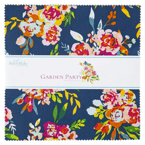 "Garden Party 10-9560-42 Layer Cake 10"" Stacker Bundle - Riley Blake Designs - 42 piece Precut Pre cut - Floral - Quilting Cotton Fabric"