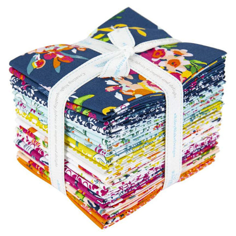 Garden Party FQ-9560-21 Fat Quarter Bundle 21 pieces - Riley Blake Designs - Pre cut Precut - Floral - Quilting Cotton Fabric