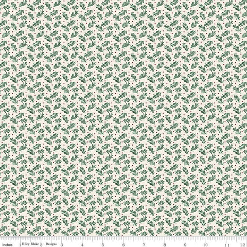 SALE Christmas Traditions Sprigs Cream - Riley Blake Designs - Leaves Berries  - Quilting Cotton Fabric