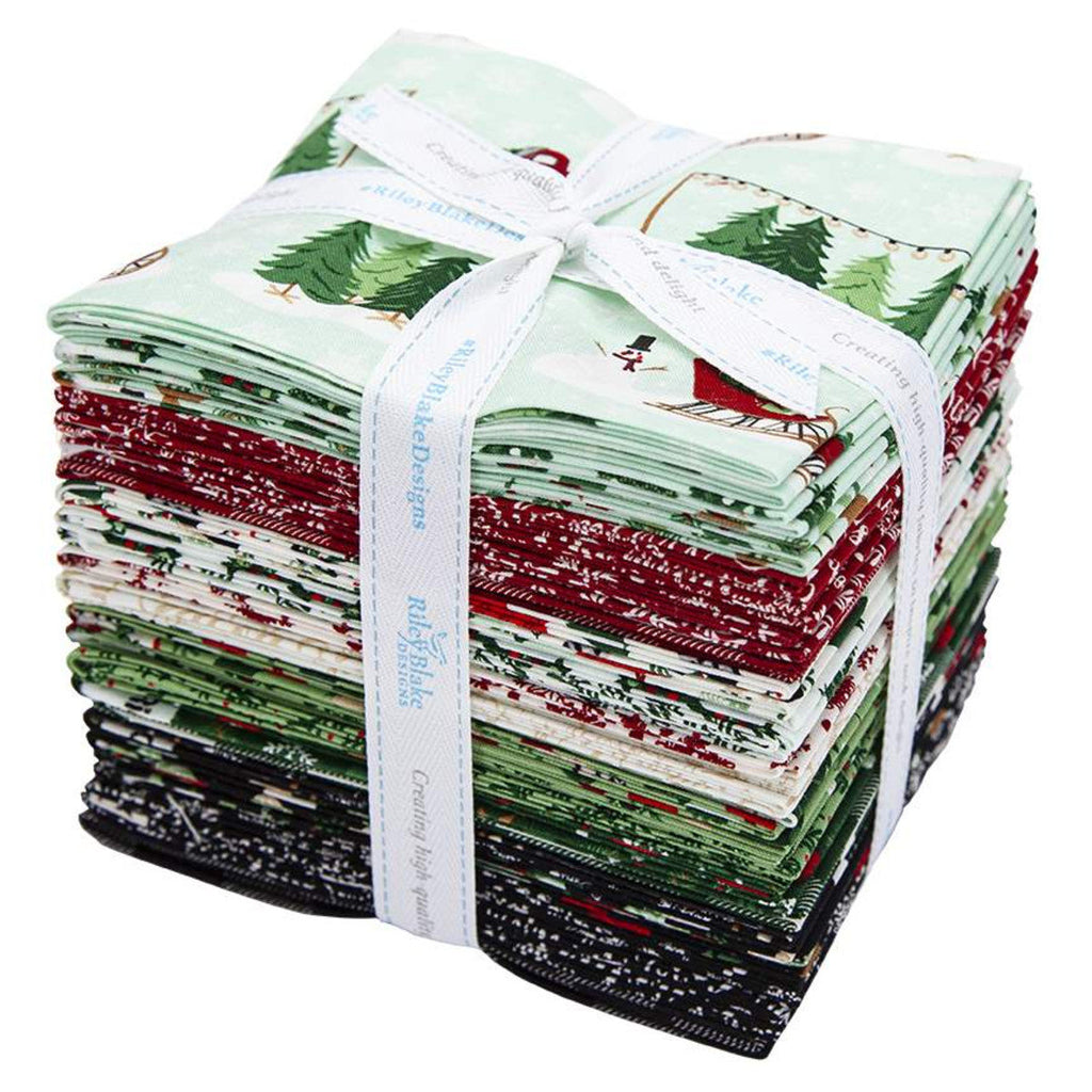 Christmas Traditions Fat Quarter Bundle 24 pieces - Riley Blake Designs - Pre cut Precut - Holiday - Quilting Cotton Fabric