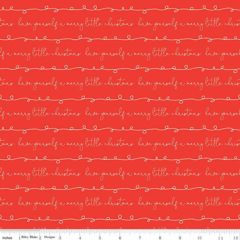 Merry Little Christmas Writing C9643 Red - Riley Blake Designs - Have Yourself a Merry Little Christmas - Quilting Cotton Fabric