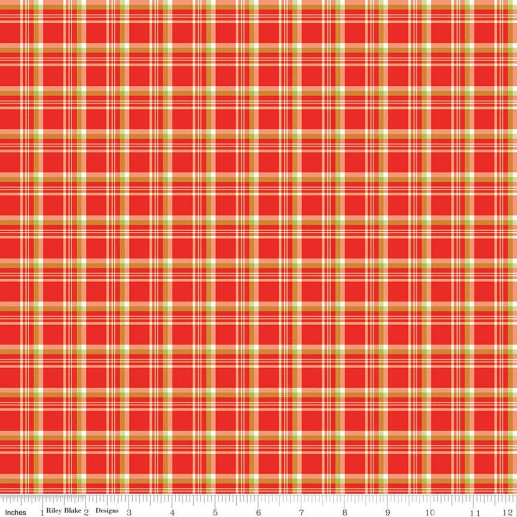 Merry Little Christmas Plaid C9644 Red - Riley Blake Designs - Red Green Cream Plaid - Quilting Cotton Fabric