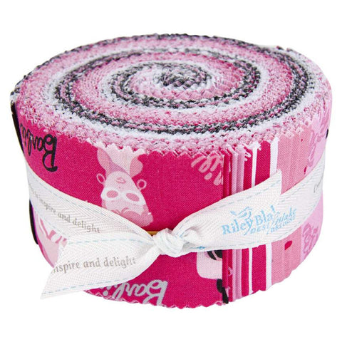 Barbie 2.5-Inch Rolie Polie Jelly Roll 40 pieces Riley Blake Designs - Precut Bundle - 1959 Barbie - Quilting Cotton Fabric