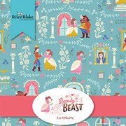 Beauty and the Beast Fat Quarter Bundle 18 pieces - Riley Blake Designs - Pre Cut Precut - Fairy Tale Belle - Quilting Cotton Fabric