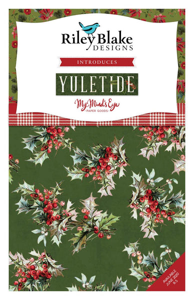 Yuletide Fat Quarter Bundle 21 pieces - Riley Blake Designs - Pre cut Precut - Christmas - Quilting Cotton Fabric
