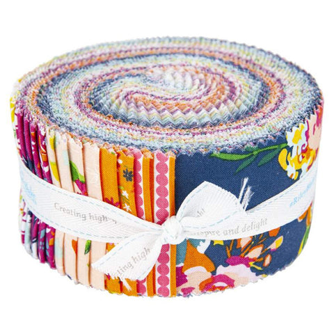 Garden Party RP-9560-40 2.5-Inch Rolie Polie Jelly Roll 40 pieces Riley Blake Designs - Precut Bundle - Quilting Cotton Fabric