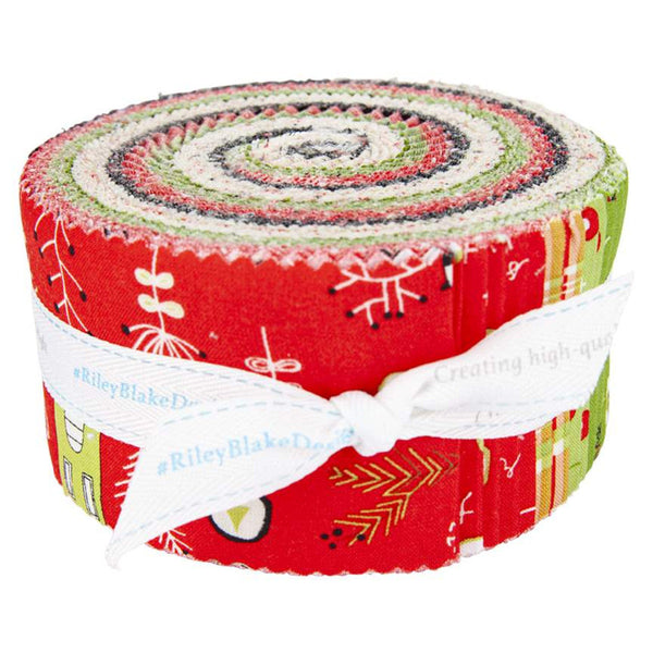 Merry Little Christmas 2.5-Inch Rolie Polie Jelly Roll 40 pieces Riley Blake Designs - Precut Bundle - Quilting Cotton Fabric
