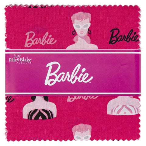 "Barbie Charm Pack 5"" Stacker Bundle - Riley Blake Designs - 42 piece Precut Pre cut - 1959 Barbie - Quilting Cotton Fabric"
