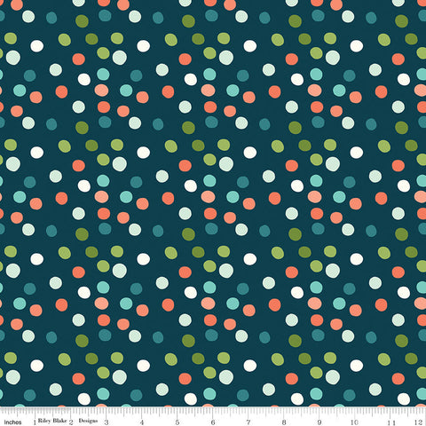 SALE Ready Set Splash! Dots C9894 Deep Sea - Riley Blake Designs - Polka Dots Dotted Dot Blue - Quilting Cotton Fabric