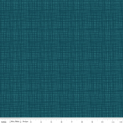 Ready Set Splash! Texture C9897 Deep Sea - Riley Blake Designs - Tone on Tone Grid Blue Green - Quilting Cotton Fabric