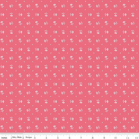 SALE Prim Daisy C9694 Tea Rose - Riley Blake Designs - Pink Scattered Daisies Floral Flowers - Quilting Cotton Fabric
