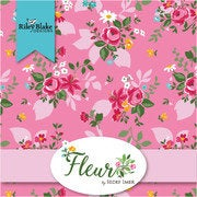 Fleur Fat Quarter Bundle 21 pieces - Riley Blake Designs - Pre cut Precut - Floral Flowers - Quilting Cotton Fabric
