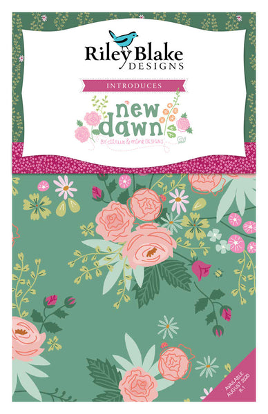 "New Dawn Layer Cake 10"" Stacker Bundle - Riley Blake Designs - 42 piece Precut Pre cut - Flowers Floral - Quilting Cotton Fabric"